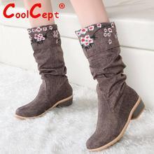 Tamaño 30-49 botas de mujer de medio tacón corto sexy calzado de moda martin botas de nieve de invierno cálido botas feminina zapatos P19466(China (Mainland))