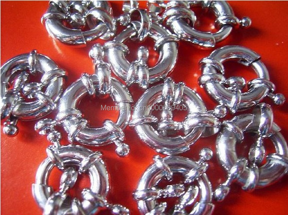 10pc Beaded material clasp15mm platinum plated imitation jewelry accessories steering wheel button buckle(China (Mainland))