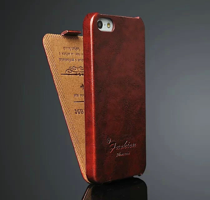 2014 New original Luxury Vintage Flip Ultrathin retor Leather Case iPhone 5 5S 5SE Phone Bag FASHION logo+Screen Film - Land Electronics Co store