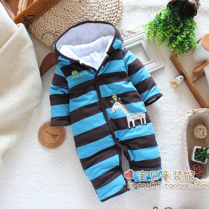 shopping festival Free shipping Male winter jumpsuit baby boy romper male child cotton rompers jumpsuit newborn clothes(China (Mainland))