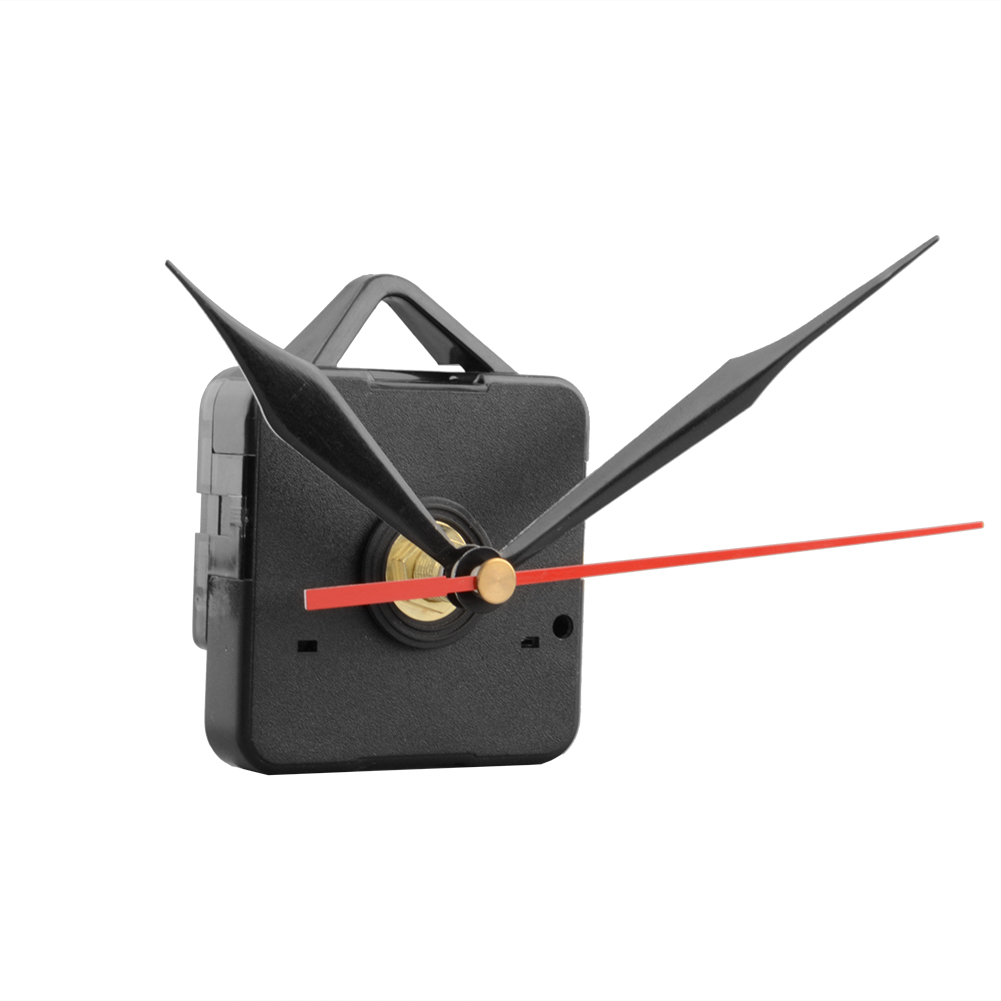 Clock Quartz Movement Mechanism Black and Red Hands Replacement Part Repair Kit Tool Set free shipping(China (Mainland))