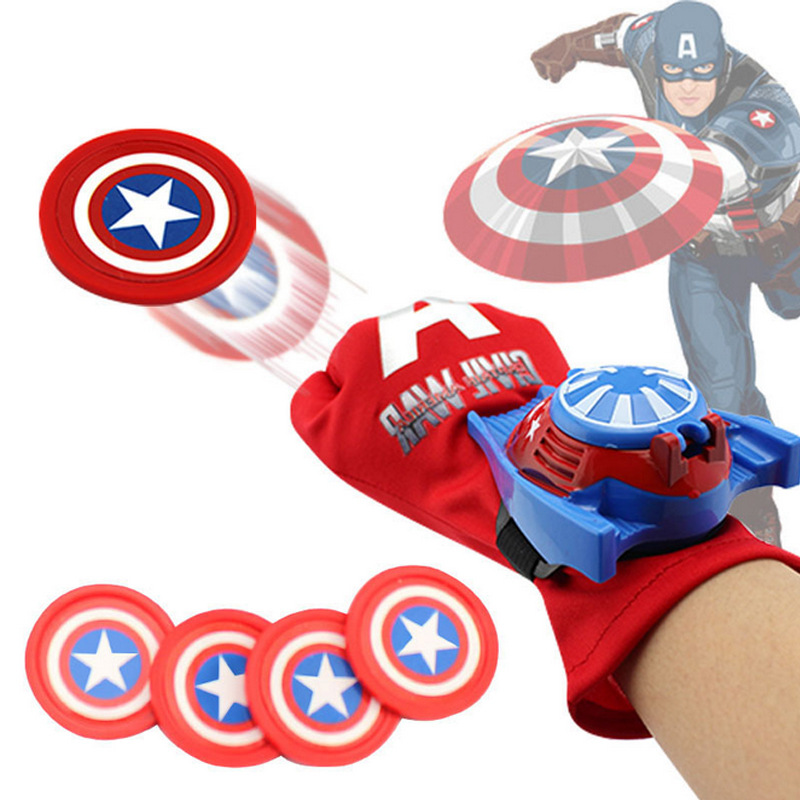 Captain American 3 Civil War Kids Toy Gloves Children's Toys Captain American SHIELD Wrist Transmitter Animation Gloves(China (Mainland))