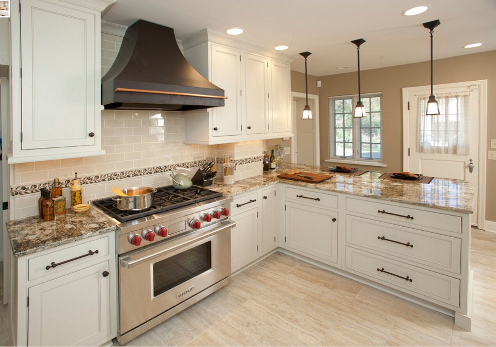 european style kitchen cabinets with solid wood door free design S1606060(China (Mainland))