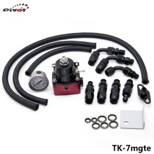 Pivot - Universal Adjustable Fuel Pressure Regulator Kits 160psi Gauge AN6 Braided Oil Hose Black+Red TK-7mgte(China (Mainland))