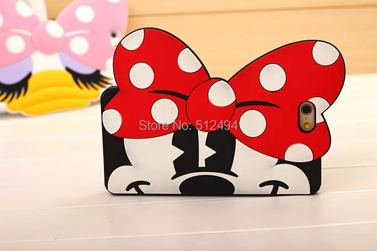 For iPhone 6 case Monsters Mickey Minnie silicone rubber cases covers to iphone6 plus cartoon phone cases
