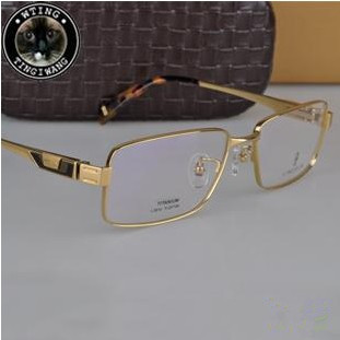guaranteed genuine full frame eyewear light weight titanium myopia glasses commercial brand design plate 18k gold