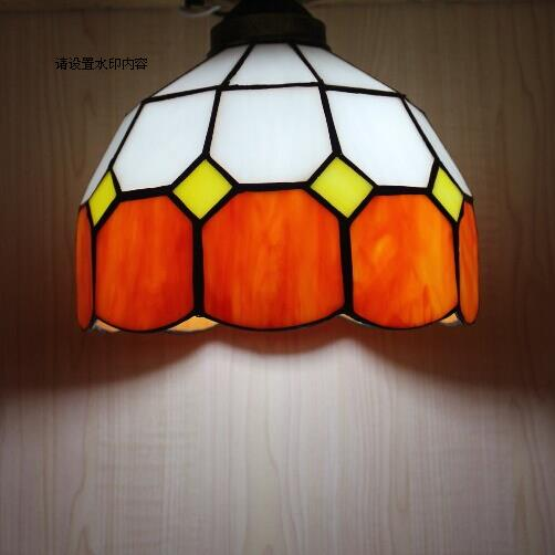 Promotion Tiffany Lighting Lamps Simple Lattice Hallway Lamp Bar Office  Mediterranean Bedroom Restaurant Pendant Lamp DF12   Us469
