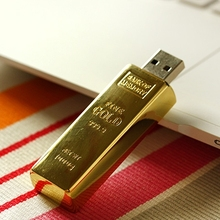 Newest Design Golden Usb Flash Drive 1TB 2TB Pendrive 128GB 16GB 32GB Gold Bar USB 3.0 Flash Memory Stick Disk Key Pen Driver