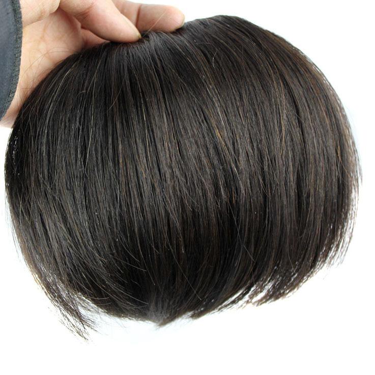 Imitation human Fake fringe hair thickening hair extension real hair else seamless false fringe hair piece<br><br>Aliexpress