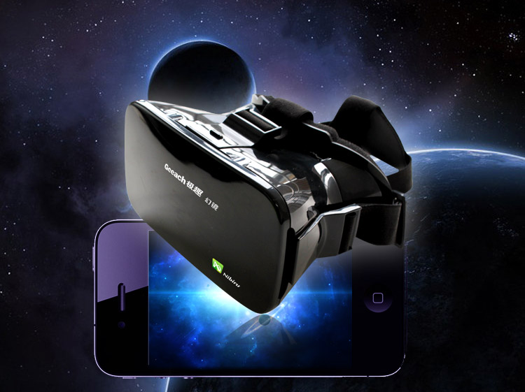 3D Glasses Google Cardboard View Virtual Reality VR Box Head Mount ABS Mirror for 3 5