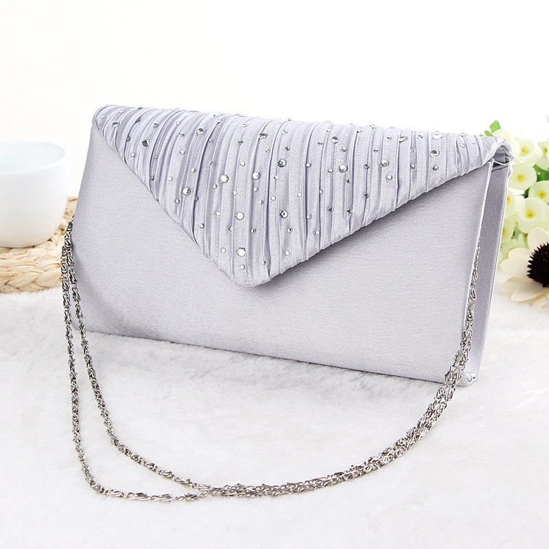 Free Shipping 2016 Hot Sale Stylish Women Evening Bag Diamond Party Hand Bag Wedding Bride Purse Cluth 3 Colors HBF26(China (Mainland))