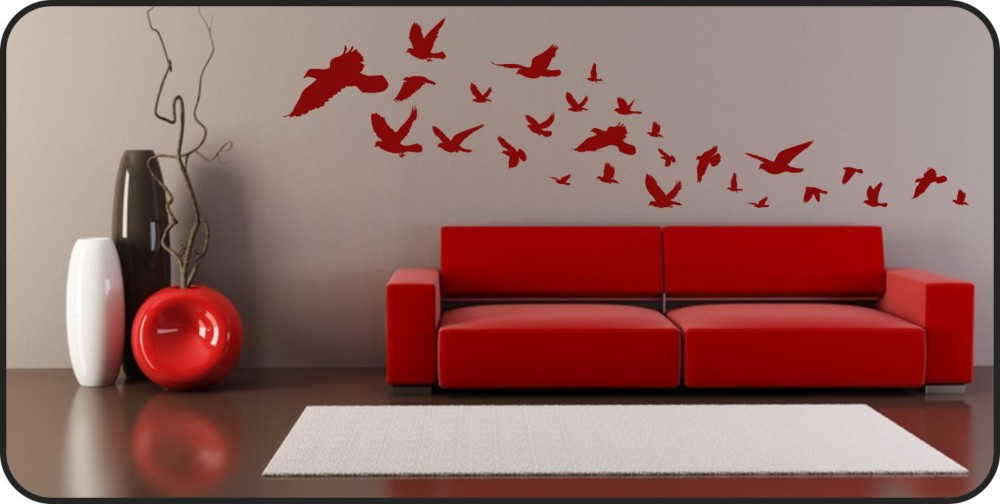 Flying Birds Wall Decal Vinyl Wall Art Wall Stickers Removable Stickers Backdrop Living Room Decorative Free Shipping(China (Mainland))