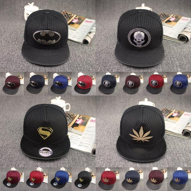 2015 новинка свободного покроя бэтмен хип-хоп Snapback шляпа для мужчин и для женщин ...