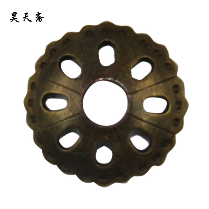 [Haotian vegetarian] antique brass washer / antique copper metal washer / copper washers HTI-044<br><br>Aliexpress