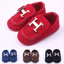 2015 New Style Newborn Baby Unisex Boys Girls Child Kids Prewalker Shoes Infant Toddler Classic Leisure Soft Soled Loafer Shoes(China (Mainland))
