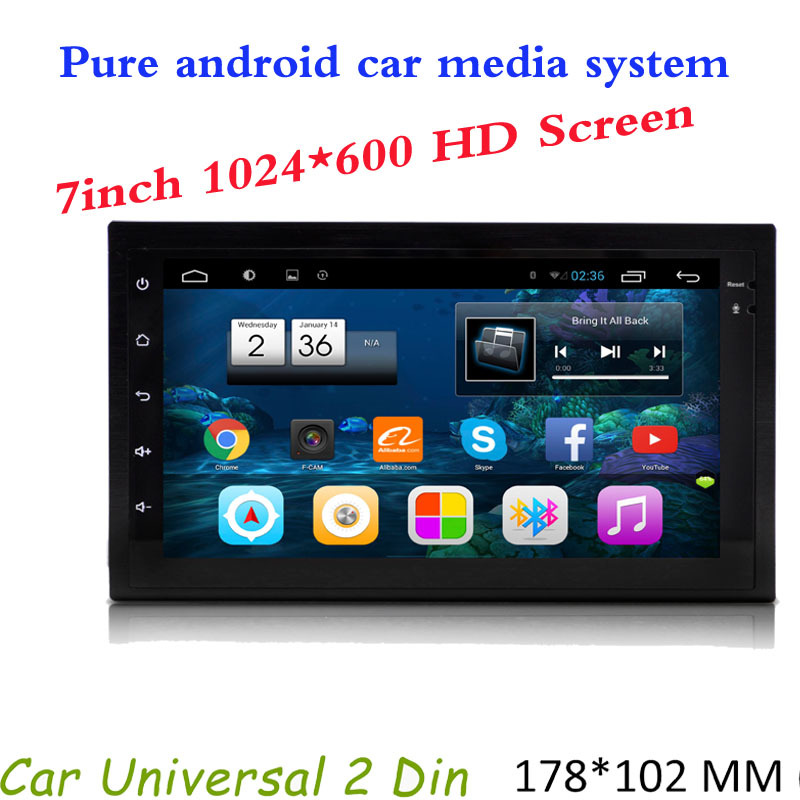 Hot Selling Car DVD Player 2 Din Universal Android 7inch Capacitive Touchscreen GPS Radio Stereo SWC WIFI Map USB audio player(China (Mainland))