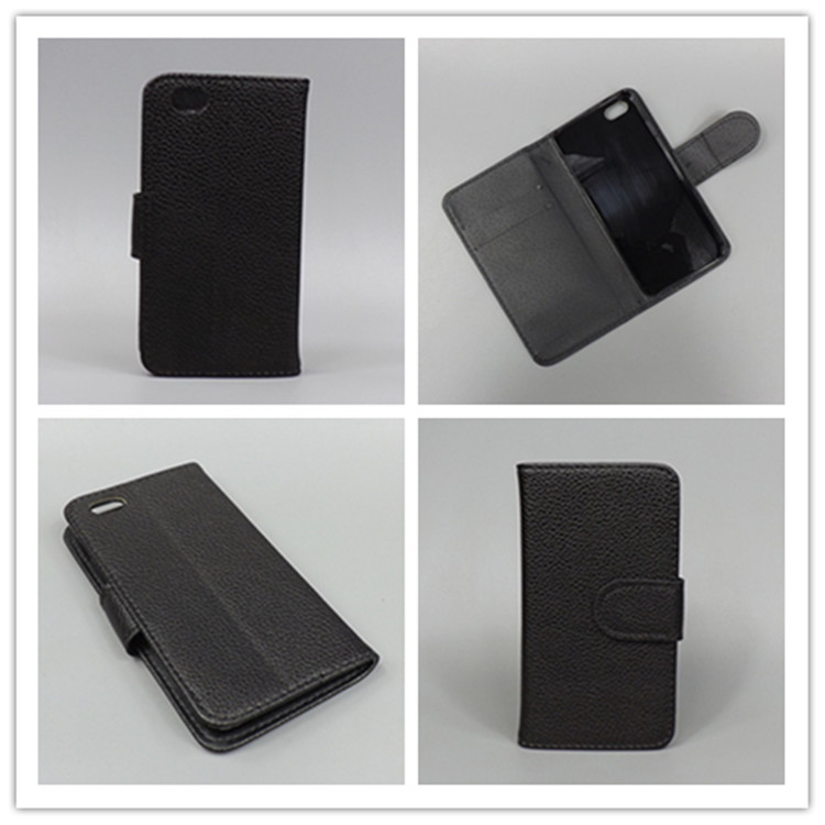 Case For IPHON 4 for iPhone 4s iphone 4 Lichi Texture Leather Case Pouch Flipcase with 2 Card Holder and pouch slot for iPhone 4()