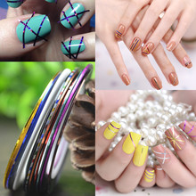 Retail 1mm Nail Striping Tape Line For Nails Decorations Diy Nail Art Self-Adhesive Decal Tools, 11 Colors For Choose