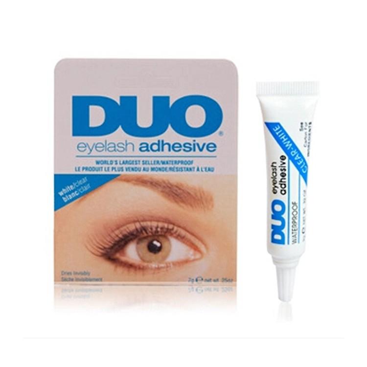 Moda 15g Cola Chicote Eyelash Adhesive Cola para cílios À Prova D' Água Dos Cílios Falsos Acessórios MU-119-RD Vermelho