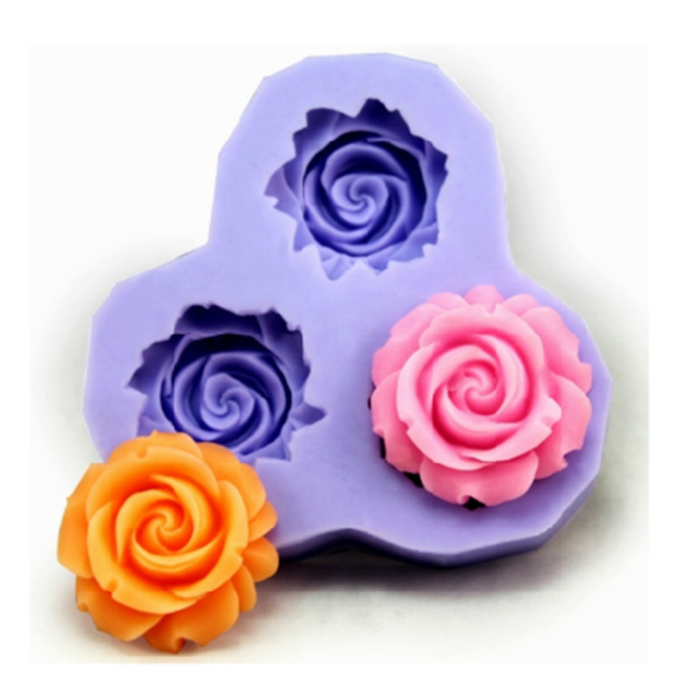Bakeware Silicone Flower Baking Molds for Fondant Candy Chocolate Cake (Random Colors)(China (Mainland))