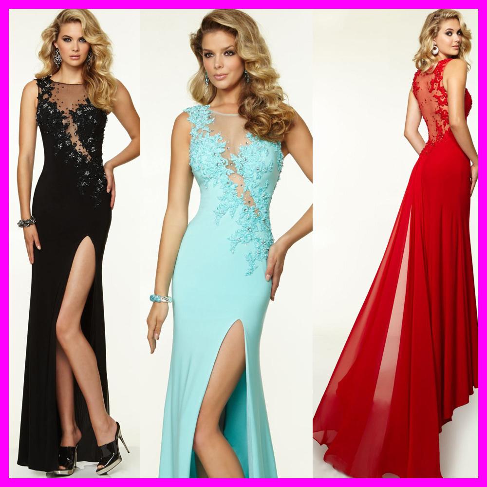 Fabulous Mermaid Evening Dresses See Through Slit Long ...