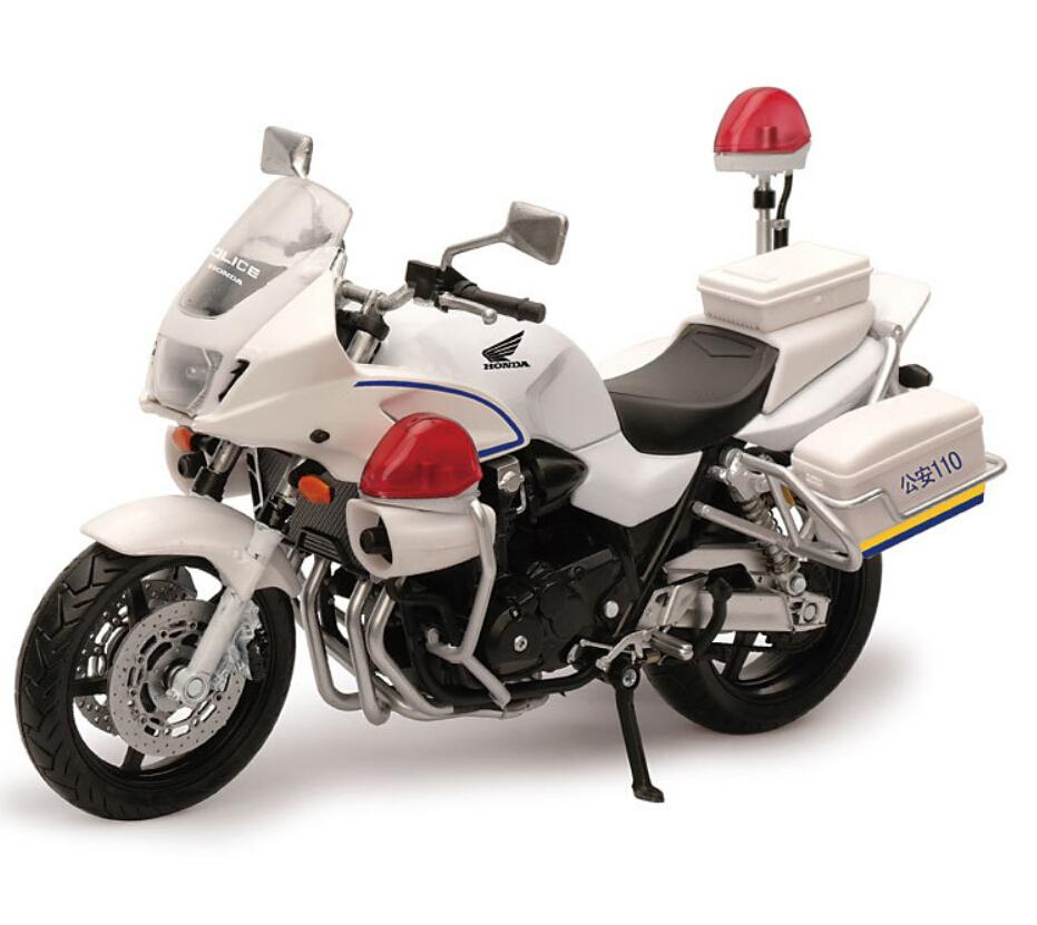 1:12 Hot new kids Mini Motorcycle CB1300P police policia Die cast model motor bike miniature Alloy metal models race toys(China (Mainland))