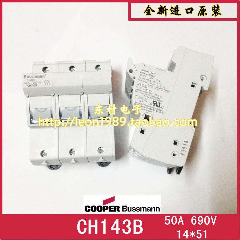 Фотография [SA]US bussmann CH143D CH143B CH143DMS fuse holder fuse holder 14 & times; 51mm