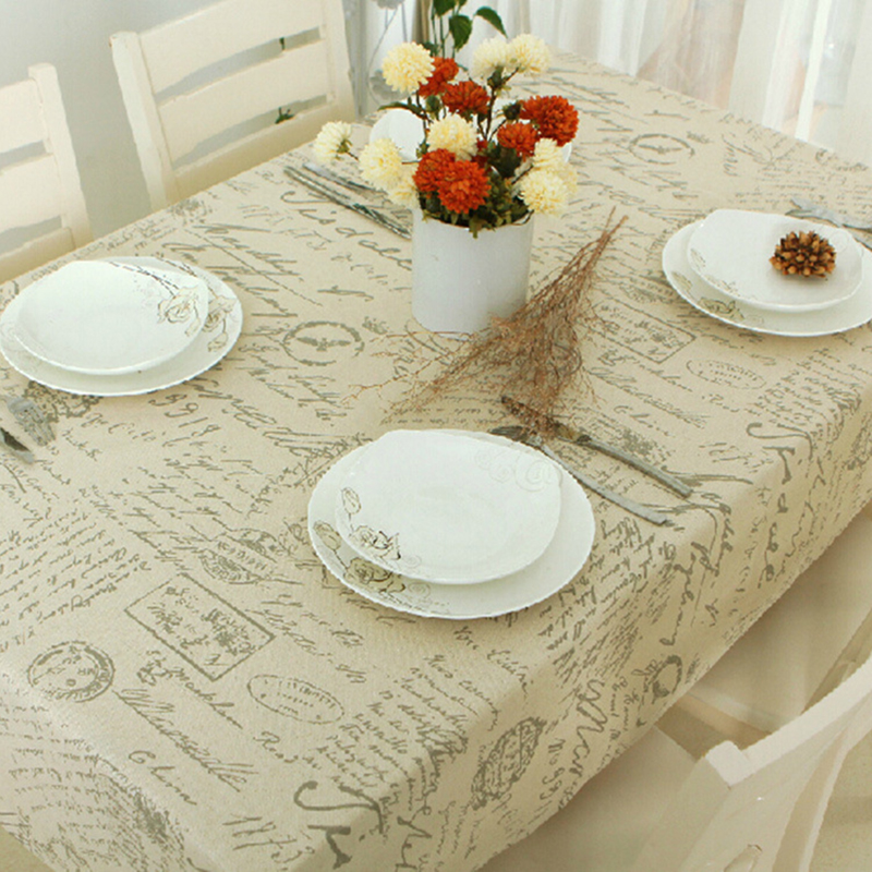 New arrival Europe stlye popular sale table cloth Linen rectangular table cloths floral print dustproof free shipping LRLT036(China (Mainland))