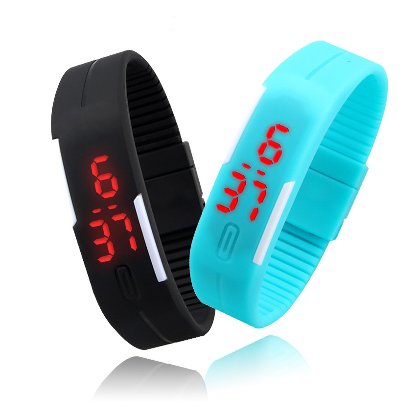 Sport Watches Men Watch Fashion Simple Colorfull Silicone Outdoor Sports Watch 11 Colors tf 83