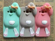 3D мультфильм задняя крышка чехол для Samsung Galaxy Neo I9060 плюс i9060i и дуэта i9082 I9080 кролик кремния телефон чехол