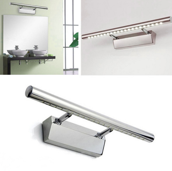New arrival 6W SMD white LED Mirror Front Light Lamp Bath Wall Stainless Steel(China (Mainland))