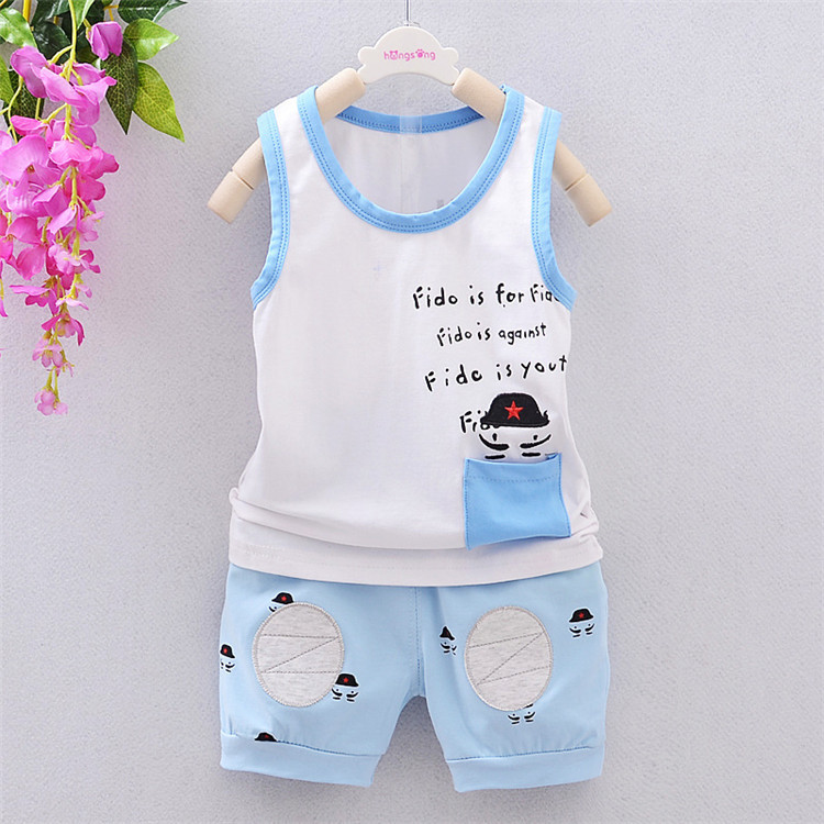 Low price summer boys clothing sets fashion baby boy cartoon shorts vest suit set kids little boy letter printing t shirt sets <br><br>Aliexpress