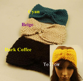 2pcs/Lot Headband Ear Warmer Knitted headwrap turban bow