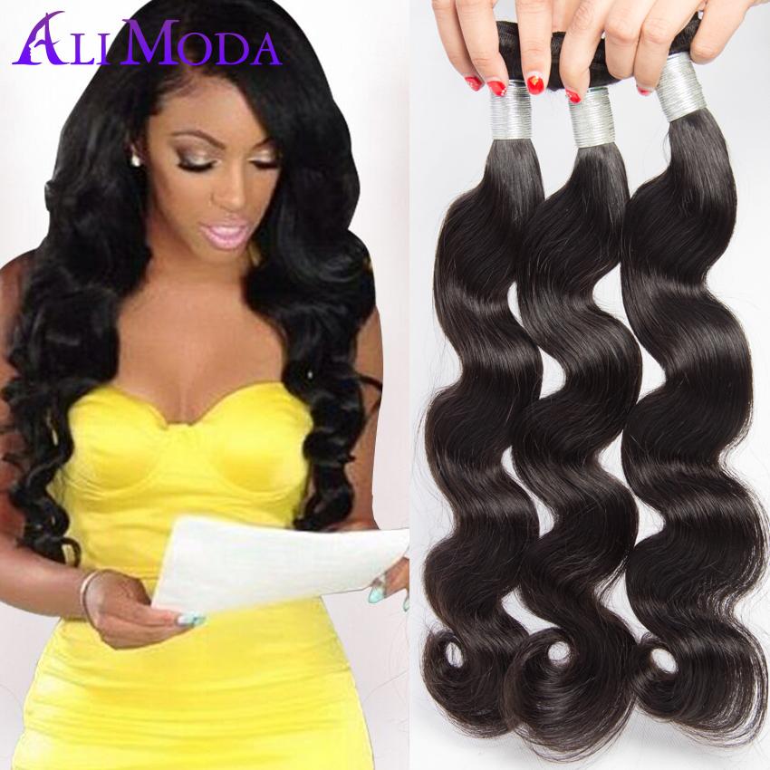 1pc/lot Indian Virgin Hair Объемная волна 7A Unprocessed Raw Indian Hair Extensions Объемная волна Human Hair Weave Virgin Indian Hair #1B
