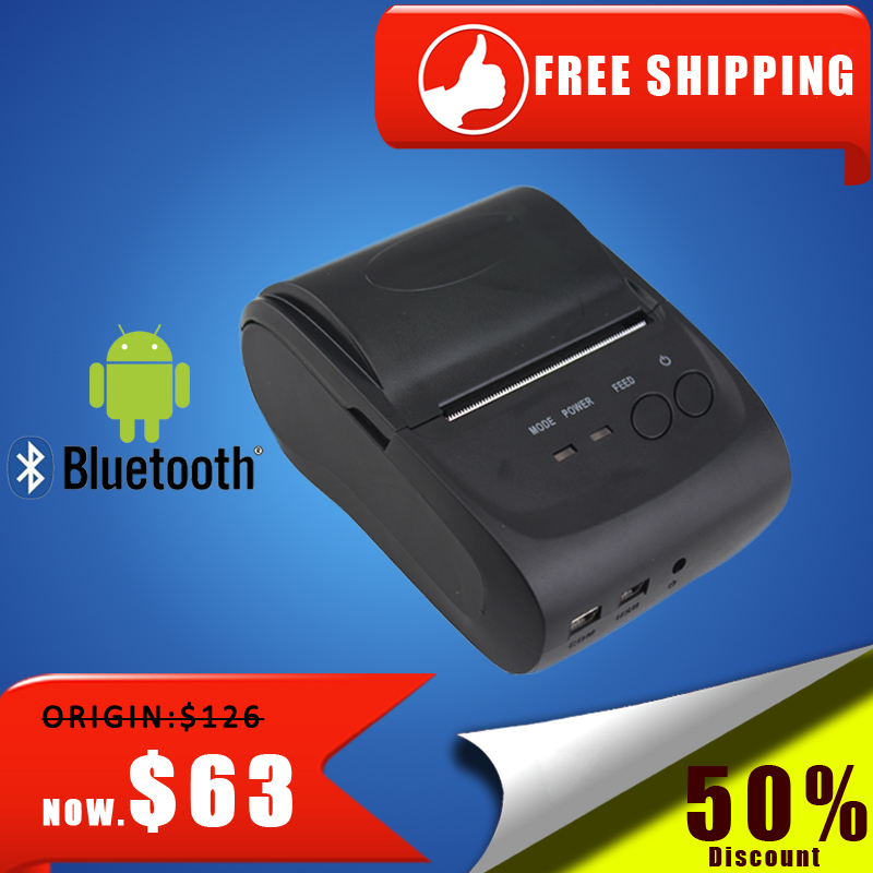 Free Shipping NT-5802LYA 58mm Mini Portable Bluetooth Thermal Printer Thermal Receipt Printer 58mm for Andriod POS System(China (Mainland))