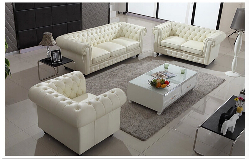 U best warren white eather modern modular sectional sofa for Sofas grandes modernos