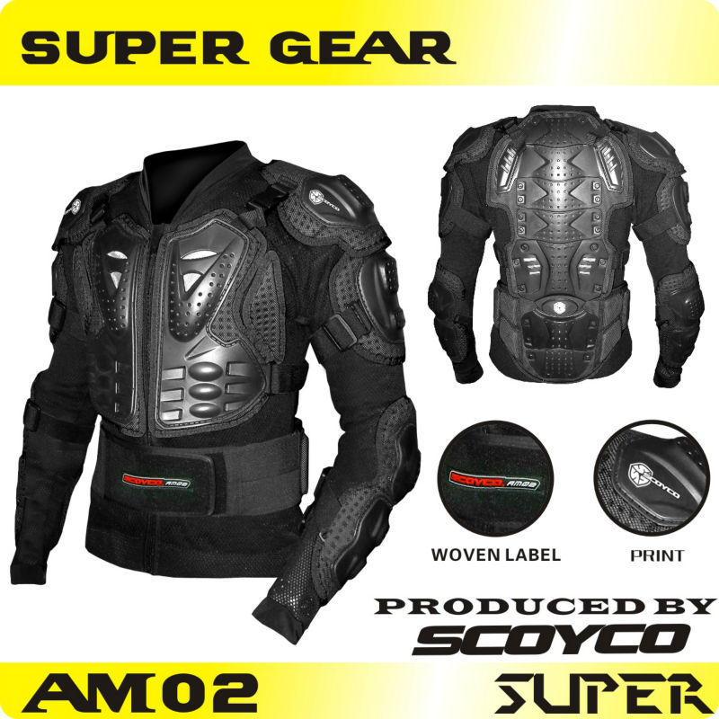 Protective Gears>> Scoyco AM02 Motorcycle Protective Motorbike Jacket Safety Armor Jackets Racing motocross armor body armor()