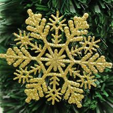 2015 Hot Selling 6Pcs Christmas Tree Glitter Snowflake Shape String Hanging XMAS Window Decoration