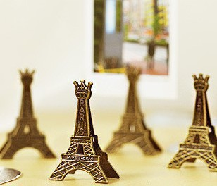 5 pcs/lot Effiel Tower Paris Metal Memo Paper Clips for Message Decoration Photo Office Supplies Accessories Free shipping 1401(China (Mainland))