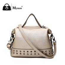 High Quality Designer Handbags Women Famous Brands Soft Leather Bags Women Brand Luxury Rivet Crossbody Shoulder Bag Ladies Sac