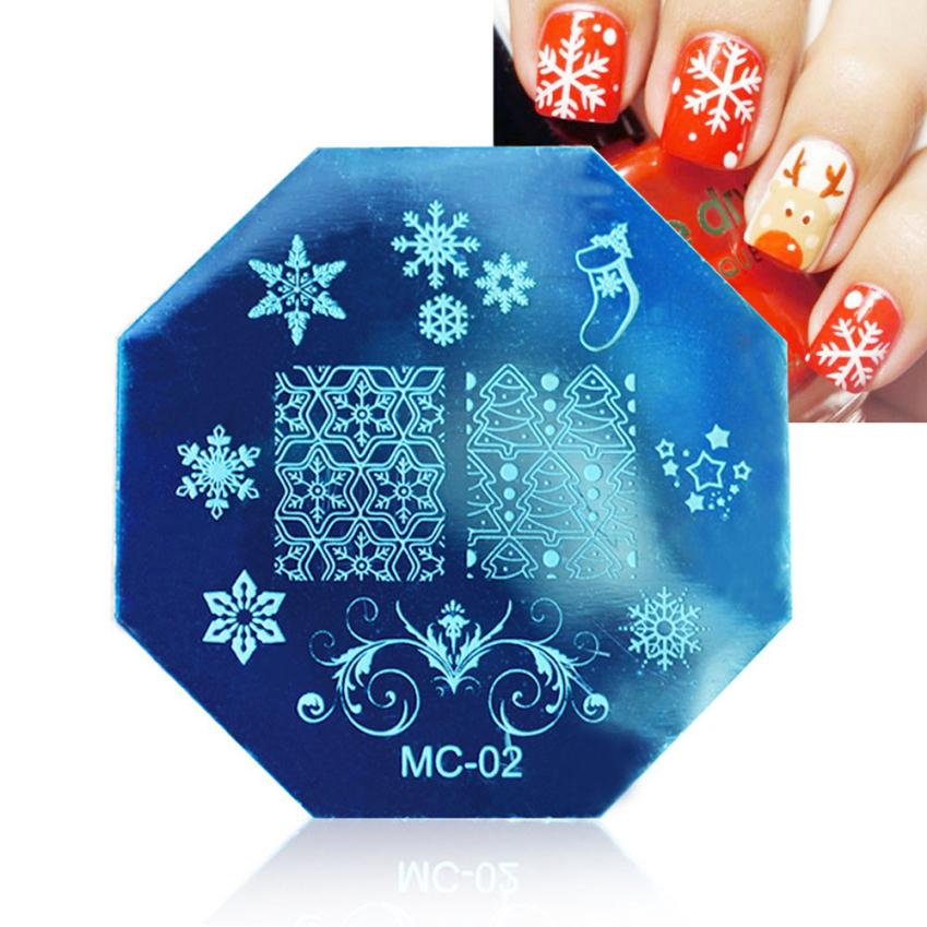 GRACEFUL Christmas DIY Image Stamp Stamping Plates Manicure Template Nail Art Plate Unique Pattern Template JUN8(China (Mainland))