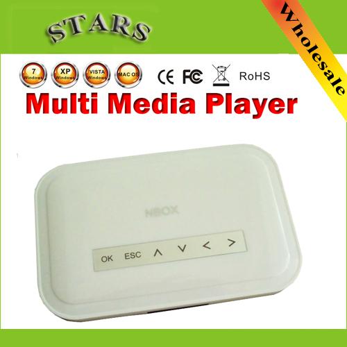 New NBOX DivX Hard Driver RMVB RM MP3 AVI MPEG Divx HDD TV USB SD Card HDTV Media Player Nbox media player with Remote Control(China (Mainland))