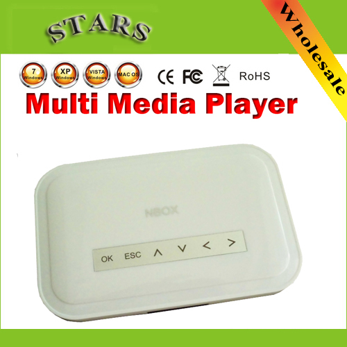 New NBOX DivX Hard Driver RMVB RM MP3 AVI MPEG Divx HDD TV USB SD Card HDTV Media Player Nbox media player with Remote Control(China (Mainland))