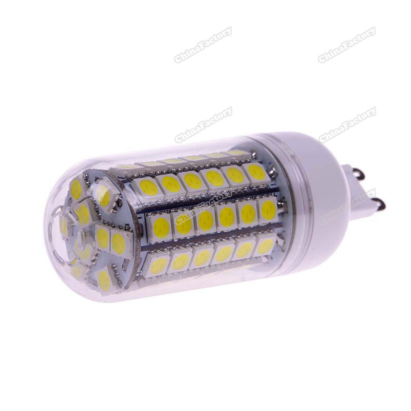 chinafactory quality assurance G9 5.5W 69 LED 5050 SMD Cover Corn Spotlight Light Lamp Bulb Warm Pure White buying quickly(China (Mainland))