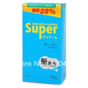 Okamoto Super Lubricated Ultra-Thin Natural Latex Premium Condoms - Pink (10-Piece Pack) Free Shipping(China (Mainland))