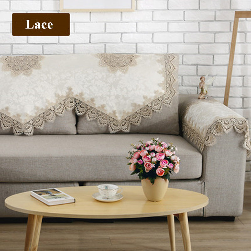 new european style sofa towel elegant lace sofa cover