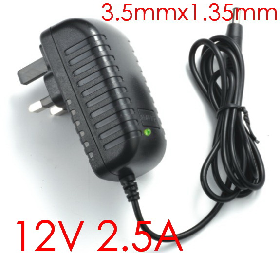 1PCS High quality 12V 2.5A 30W Tablet Battery Charger AC Adapter for Cube i7 Cube i9 tablet pc Power Supply Adapter 3.5mmx1.35mm(China (Mainland))