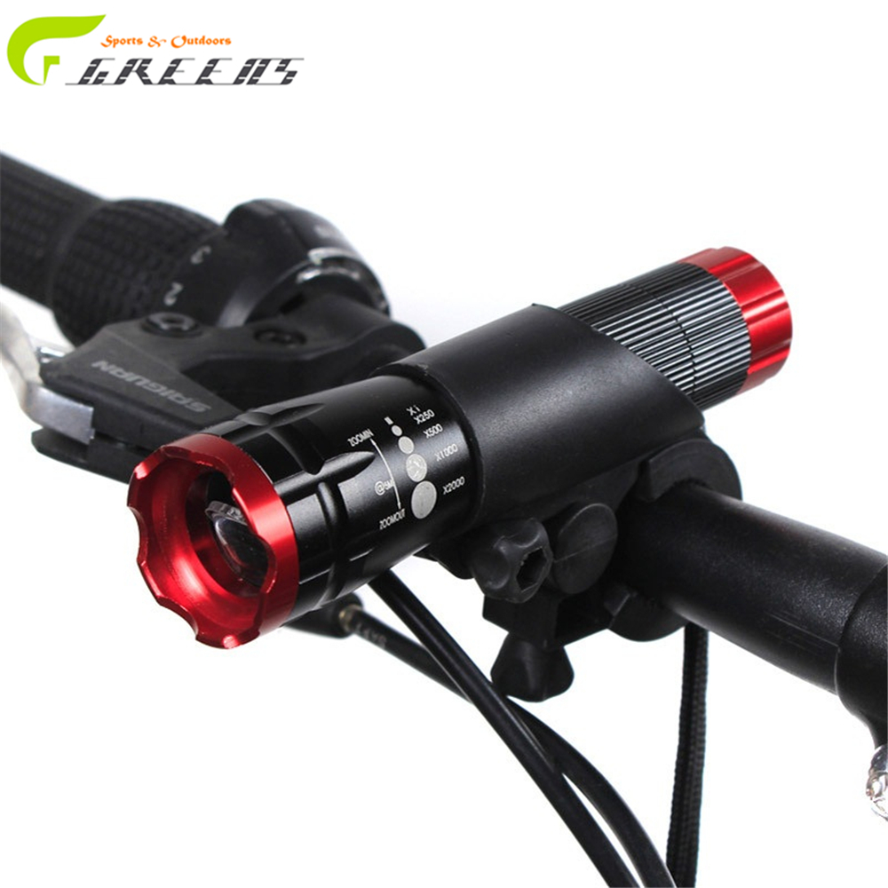 Bike Light Led Bicycle Front Light Cycling Head Light LED Flashlight 2000Lumens Rotary Zoom Penlight Bicycle Accessories(China (Mainland))