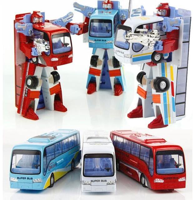 Новый стиль поли Robocar робот трансформация автобусные автомобиль игрушки сплава деформации полиция робот автобус игрушки для детей детей 3 цвет