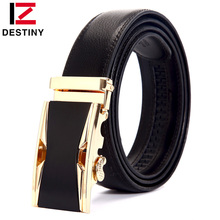 Buy DESTINY Designer Belts Men High Luxury Famous Brand Male Genuine Leather Strap Metal Automatic Buckle cinto masculino for $9.19 in AliExpress store